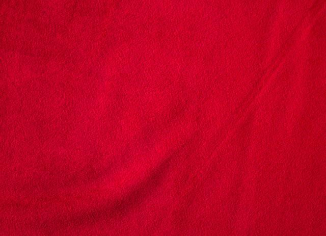 Bright Red Cotton Velvet Fabric By The Yard