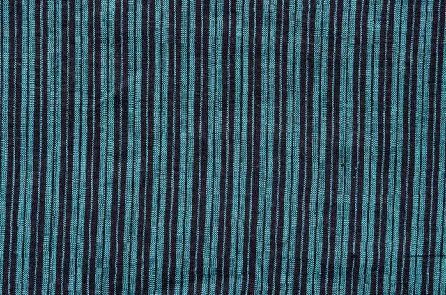 Green And Black Handwoven Cotton Fabric