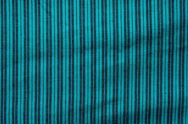 Black And Green Striped Handwoven Cotton Fabric