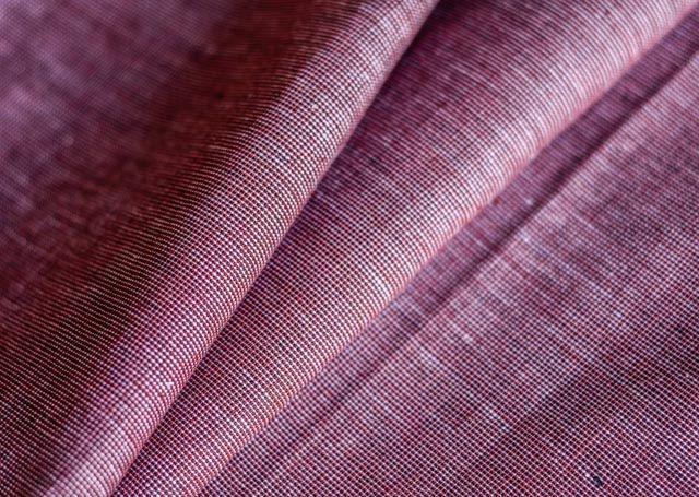 Brick Red Handwoven Cotton Fabric