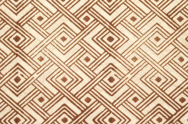 Brown Diamond Cotton Upholstery Fabric
