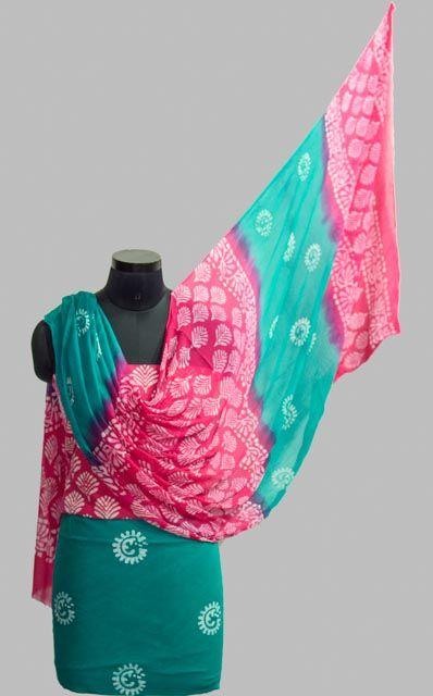 3 Piece Cotton Block Print Salwar Kameez