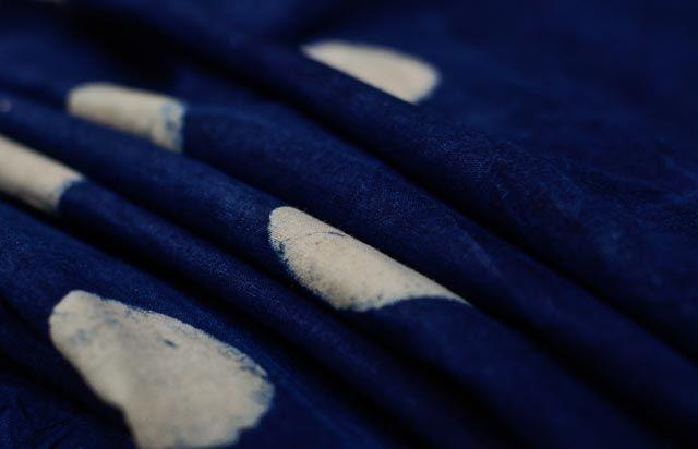 Indigo Spots Cotton Upholstery Fabric