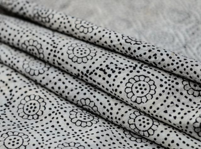 Daisey Grey Handprint Upholstery Fabric