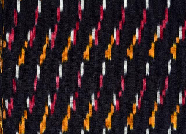Black Ikat Fabric By The Yard