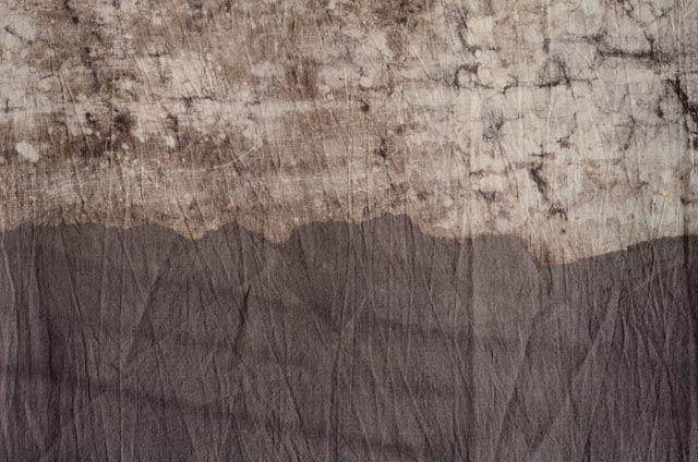 Brown Dip Dyed Fabric
