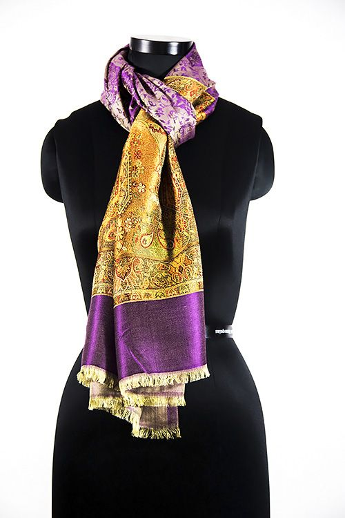 Designer Purple Fashion Scarves For Women