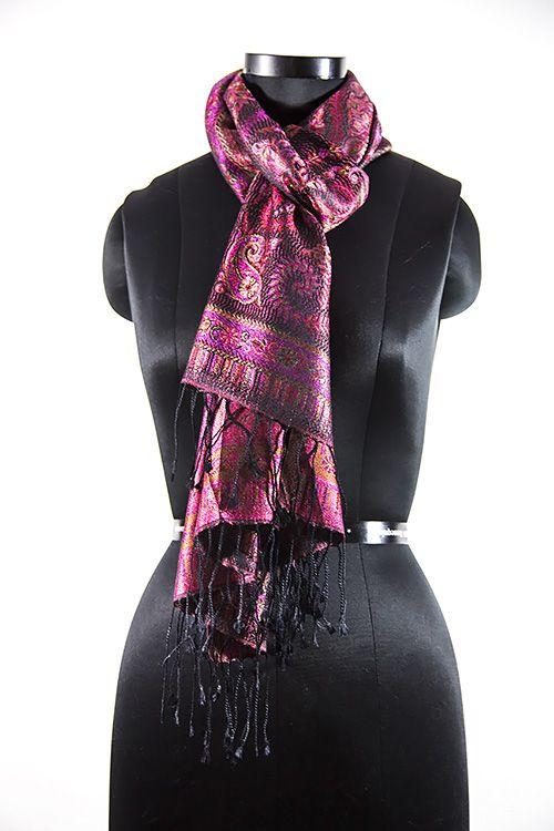 Pinkish Silk Scarves For Women