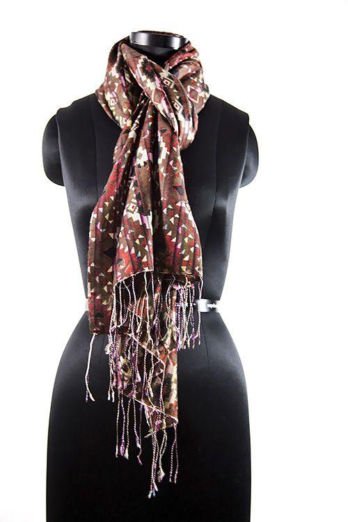 Multi Colour Brown Wool Scarf