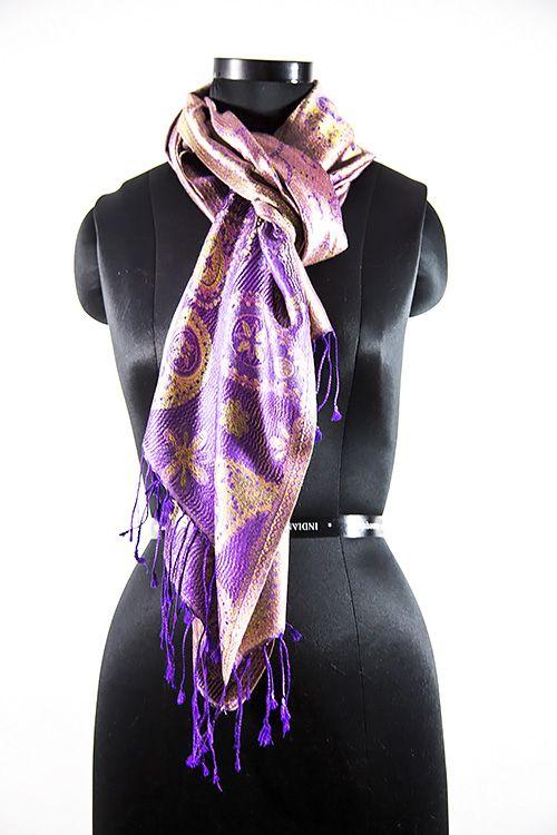 Intense Purple Silk Scarves For Women