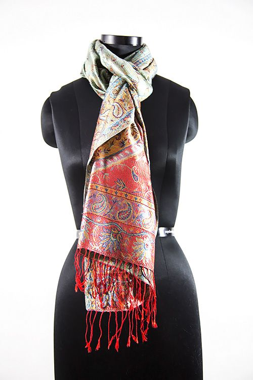 Beauty Red Cashmere Silk Scarf