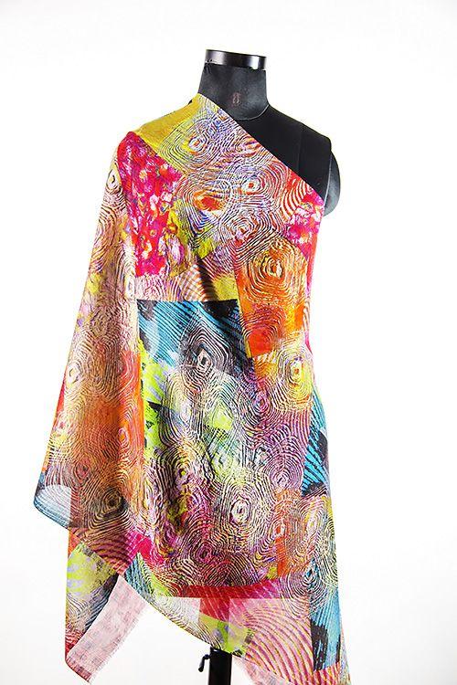 Multi Colour Modern Design Wool Scarf