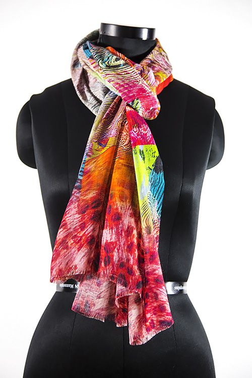 Modern Red Fashion Scarves For Women