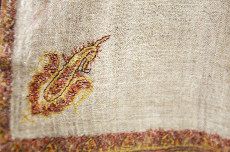 Exclusive Hand Embroidered Super Fine 100 Cashmere Shawl