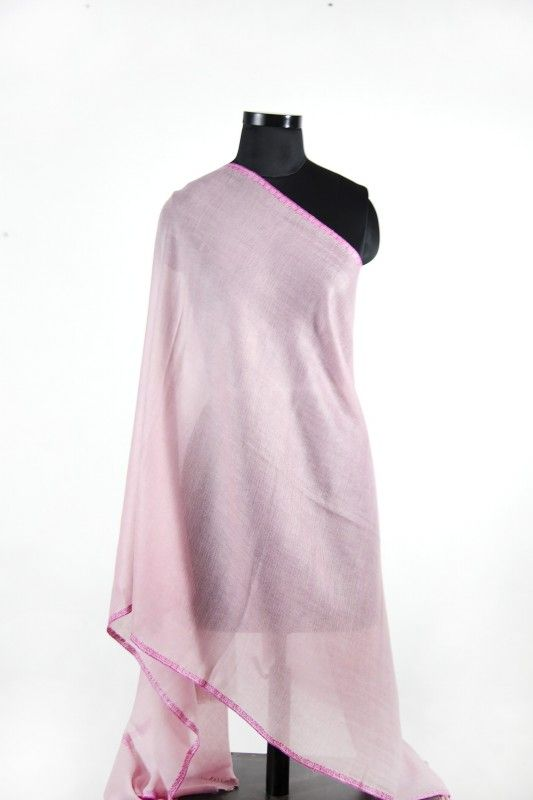 Baby Pink Hand Embroidered Pashmina Scarf