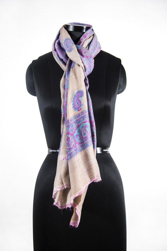 Almond Purple Pashmina Scarves