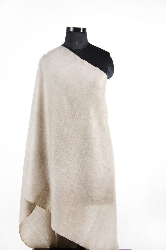 Pastel Taupe Brown Cashmere Scarf