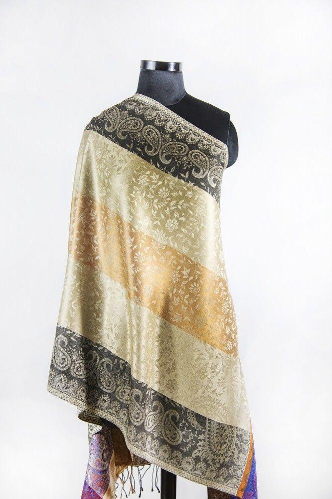 Peach Melba Designer Silk Scarves
