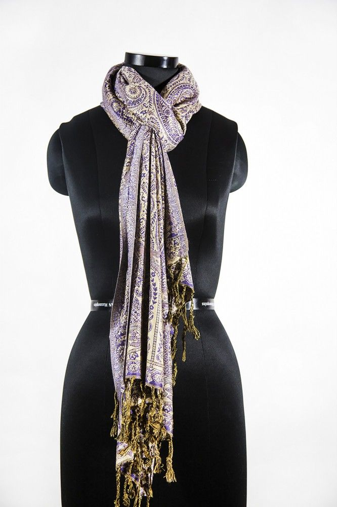 Magnetic Violet Paisley Fashion Scarves For Women