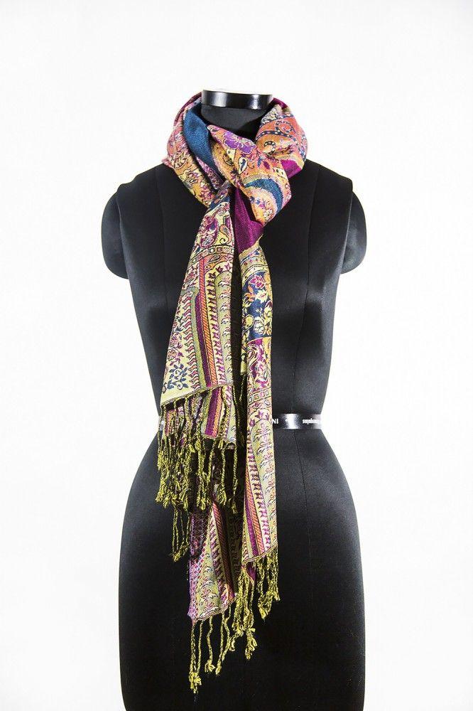 Purple Blue Paisley Fashion Scarves For Women