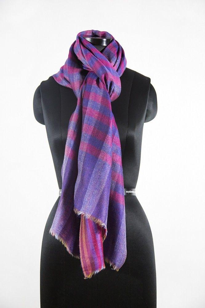 Winter Charm Checks 100 Wool Scarf