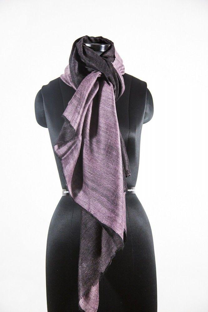 Purple Black Reversible Pashima Scarf