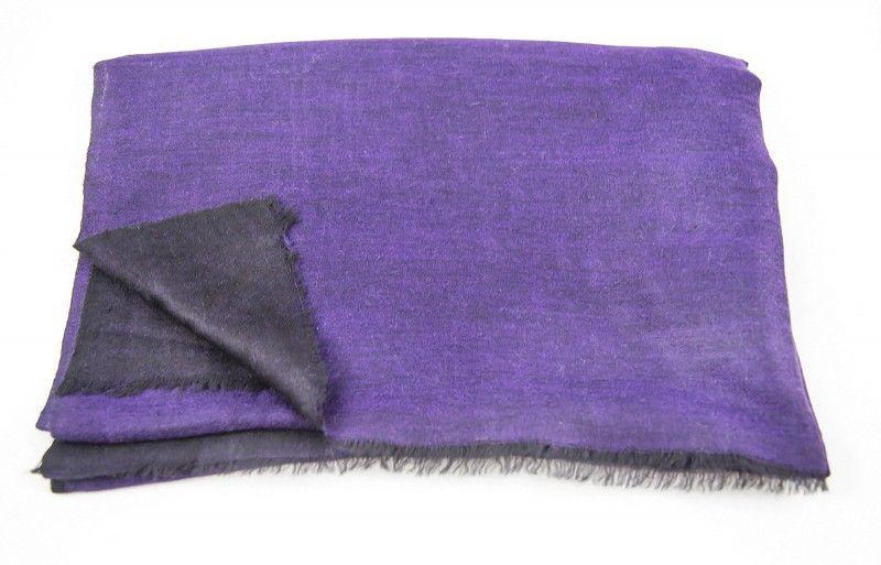 Double Sided Purple Black Pashmina Scarf
