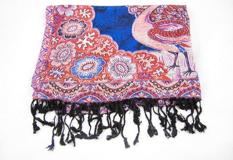 Peacock Design Fashion Scarves For Women