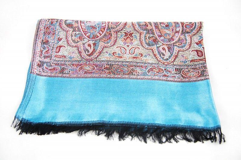 Designer Blue Fashion Scarves For Women