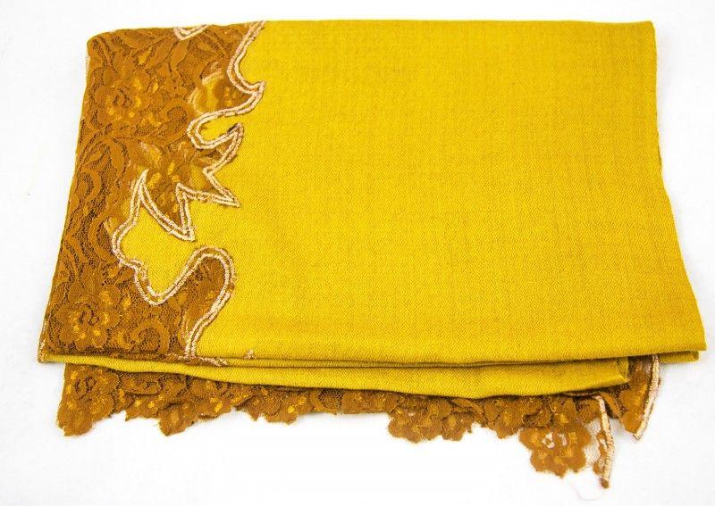 Beauty Yellow Cashmere Scarf Women