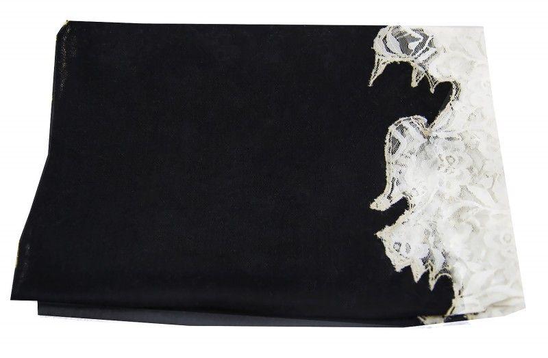 Beauty Black White Cashmere Scarf Women