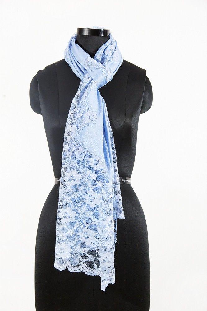 Sea Blue Cashmere Scarf Women