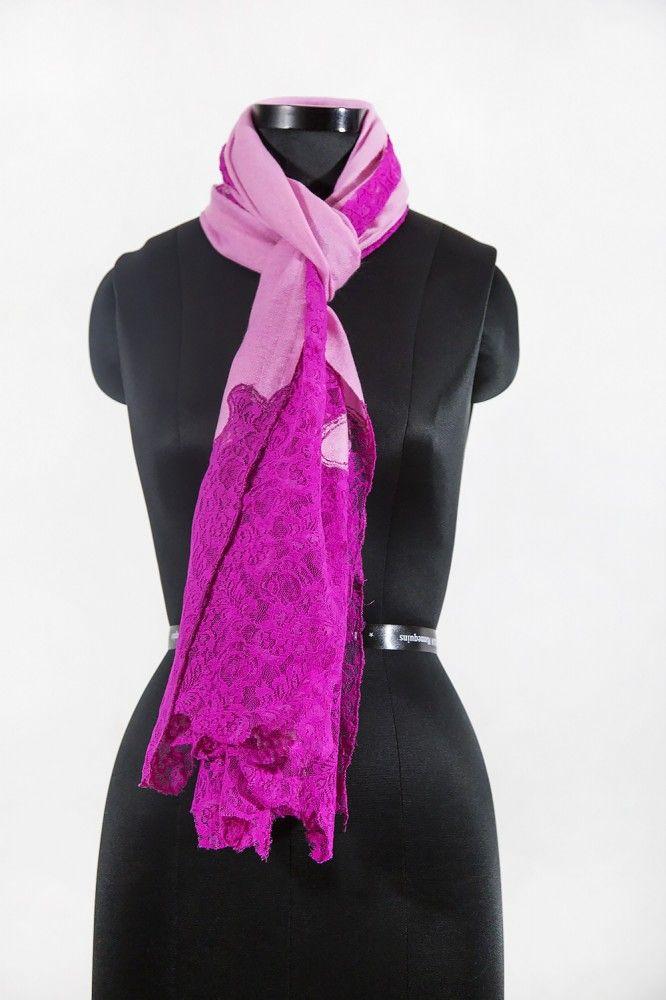 Bright Pink Cashmere Scarf Women