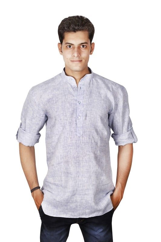 Indian Classic Linen Nehru Collar Shirt