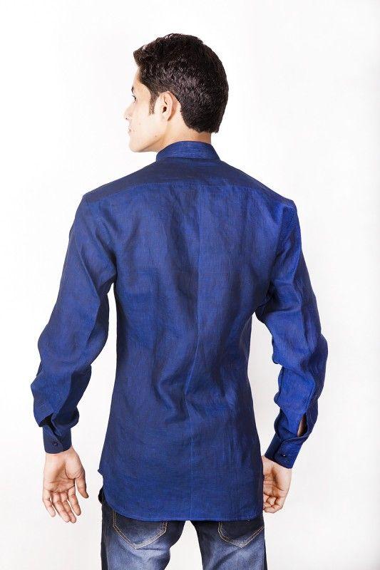 Indian Linen Nehru Collar Shirt