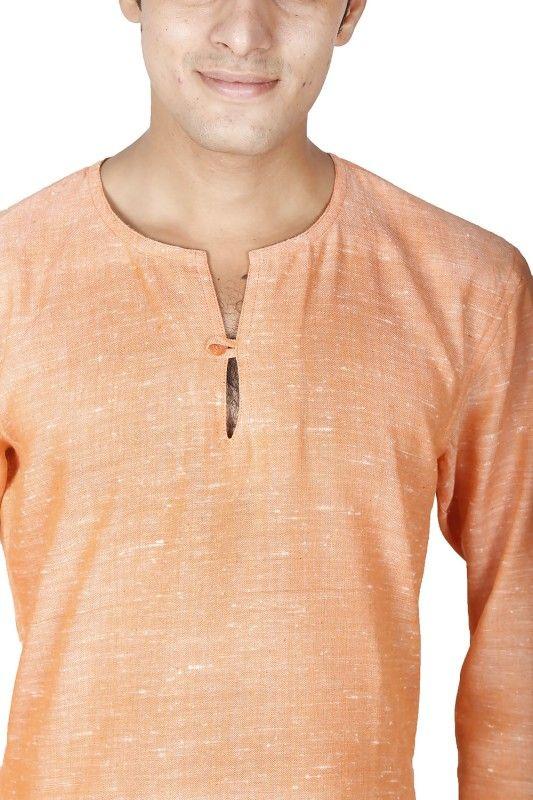 Round Collar Mens Short Kurta Shirt