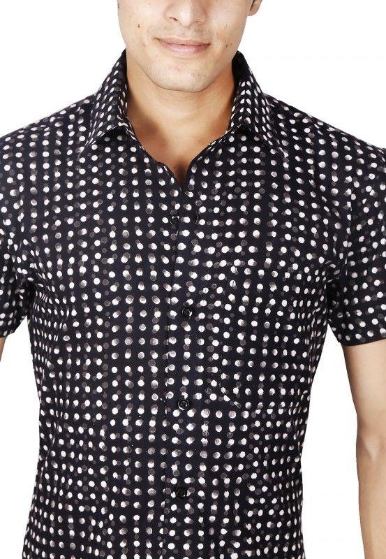 Polka Dots Block Printed Shirt