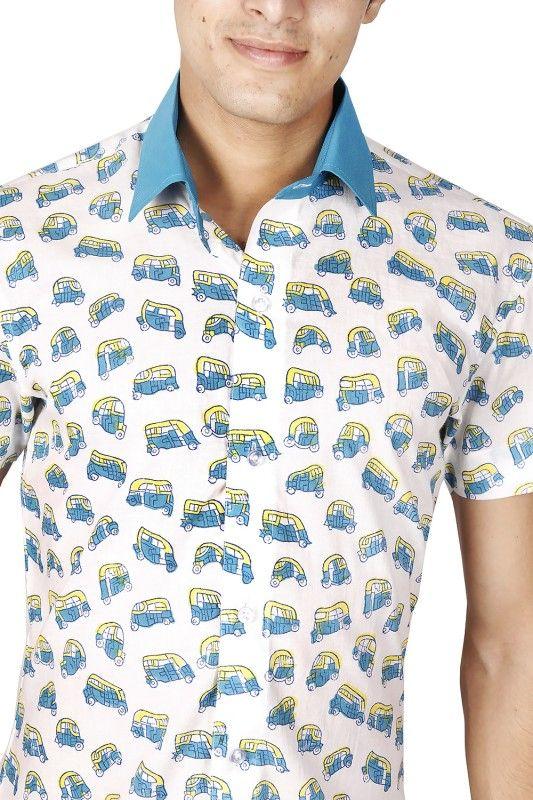 Indian Auto Block Printed Shirt Men