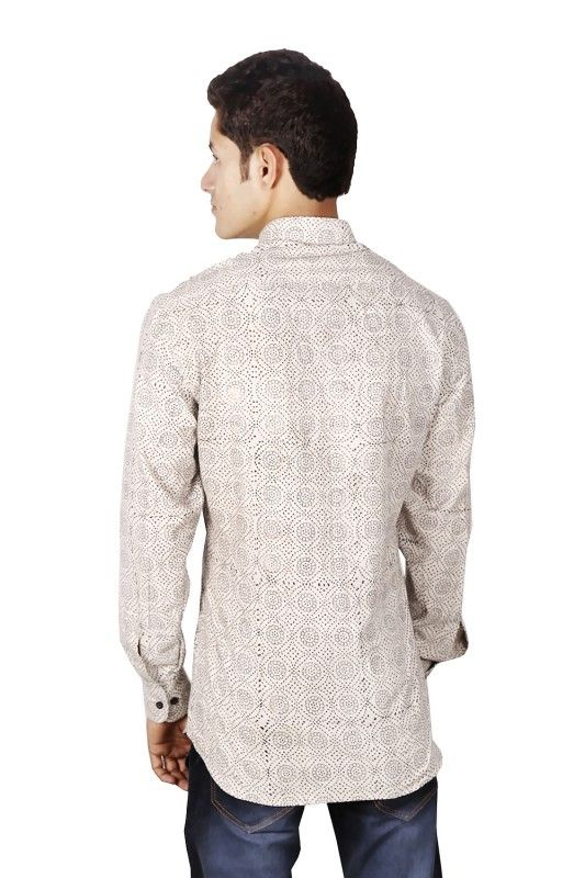 Daisey Grey Nehru Collar Shirt