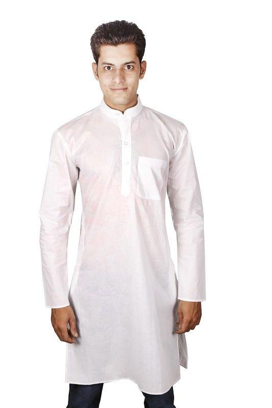 Pure White Mens Kurta Shirt