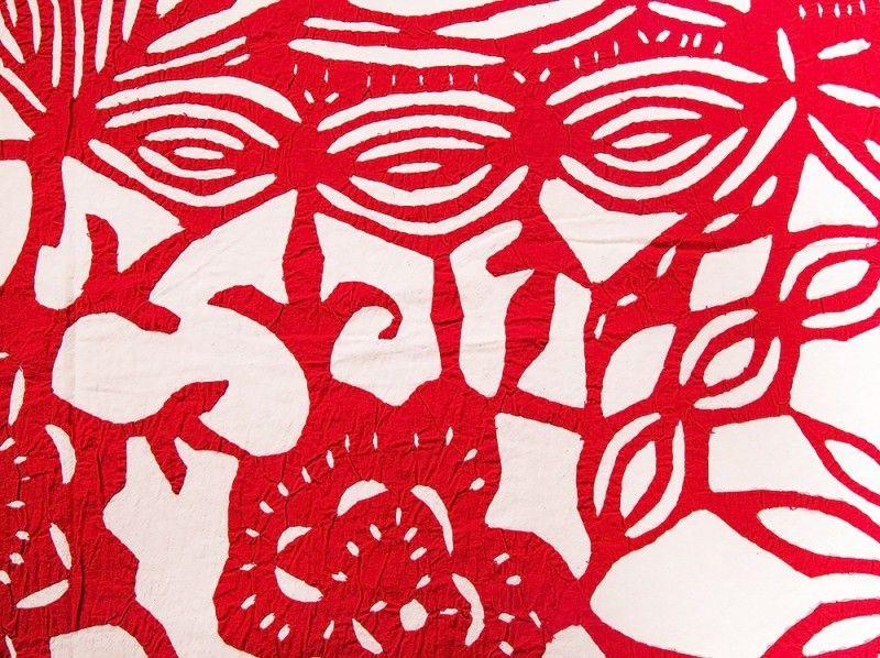 Red Floral Cutwork Cotton Bedspreads