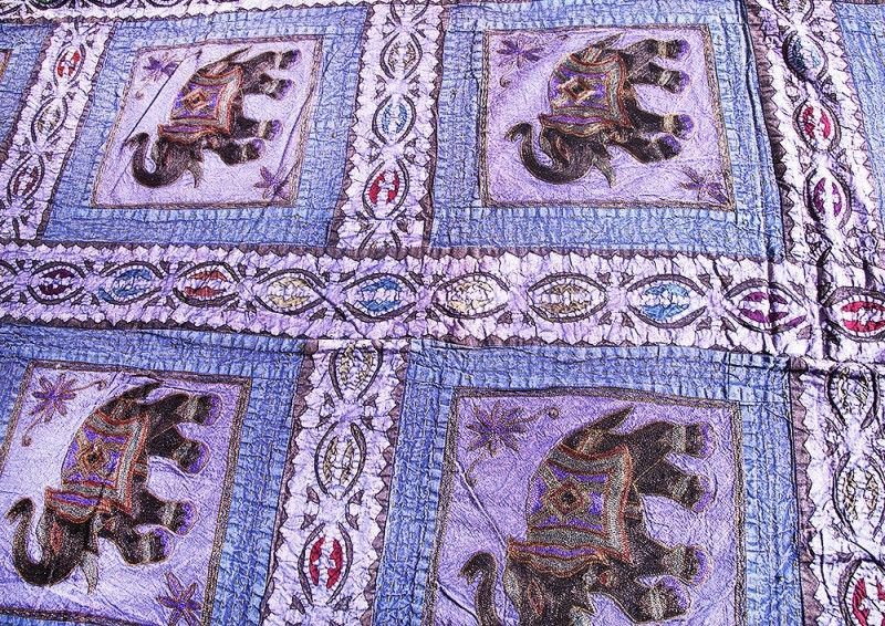 Elephant Patch Indian Cotton Bedspreads