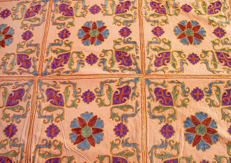 Cotton Embroidered King Bedspreads