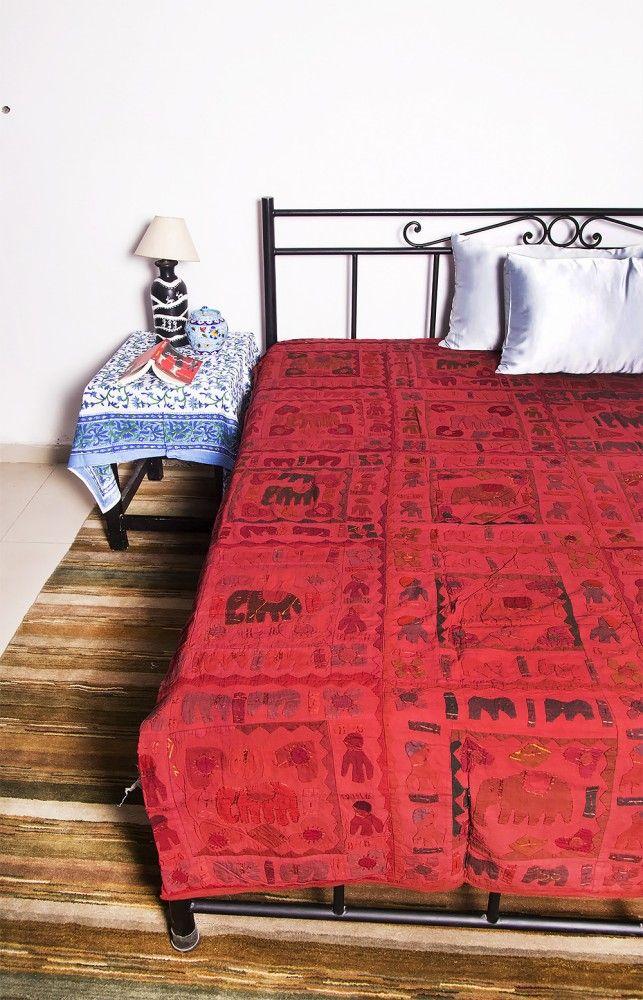 Elephant Patch California King Bedspreads