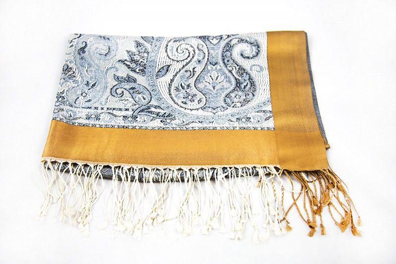 Ice Grey Silk Scarves For Women
