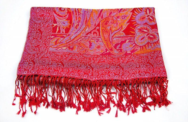 Sparkling Red Silk Scarves For Women