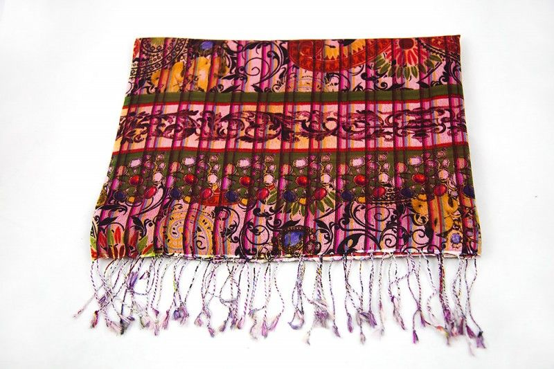 Multi Colour Red Wool Scarf