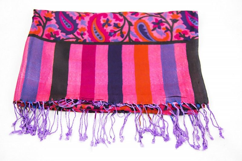 Scarlet Red Cashmere Scarf Women