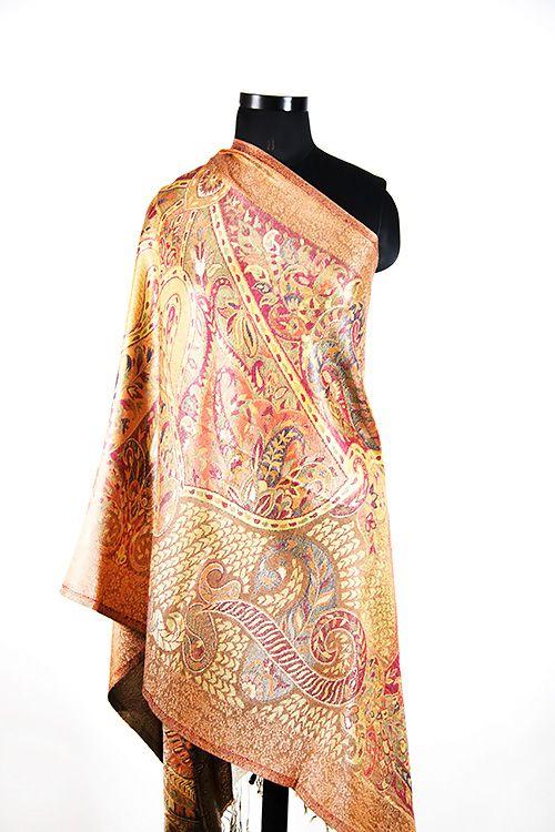 Orange Silk Scarves For Women