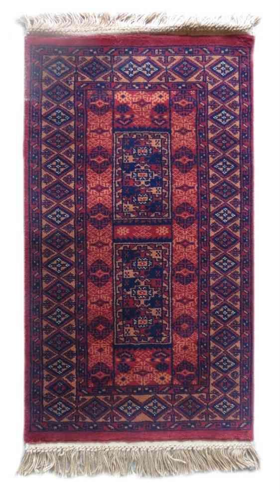Antique Maroon Handmade Wool Rug From India